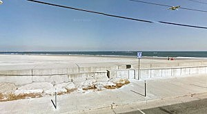 A beach in North Wildwood