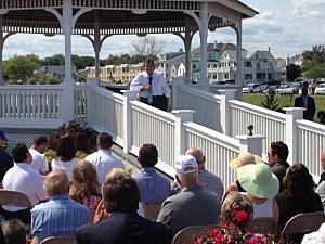 Gov. Christie hosts a town hall in Belmar