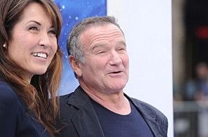 Susan Schneider and actor Robin Williams