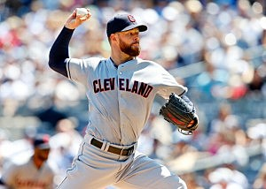 Corey Kluber #28 of the Cleveland Indians