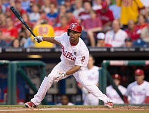 Center fielder Ben Revere #2 of the Philadelphia Phillies