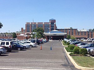 Kennedy University Hospital in Stratford following a shooting