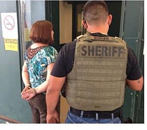 Michelle Lodzinski following her arrest in Florida