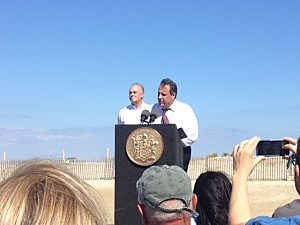 Governor Christie in Sea Bright