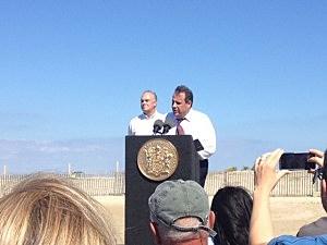 Governor Christie in Sea Bright