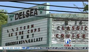 Entrance to the Delsea Drive-In (6 ABC)