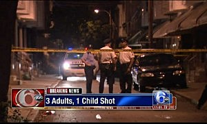 Police at scene of shooting in the Grays Ferry section of Philadelphia