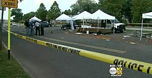 Farmer's Market in Hawthorne after a truck drove into it