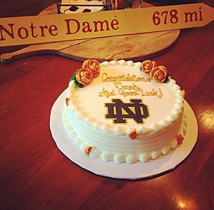 Congratulatory cake for Gov. Christie's daughter who will be attending Notre Dame