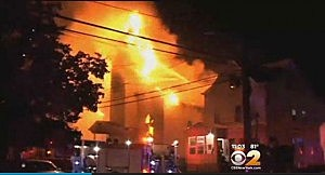 Fire at Central Baptist Church in Paterson