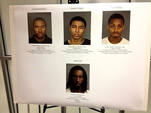 Pictures of suspects in the murders of two Essex County students