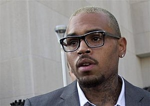 Singer Chris Brown leaves District of Columbia Superior Court in Washington,