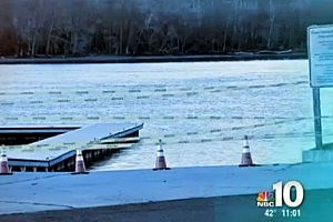 Dock on West Frost Street in Florence where a mother is charged with trying to kill her children (NBC Philadelphia)