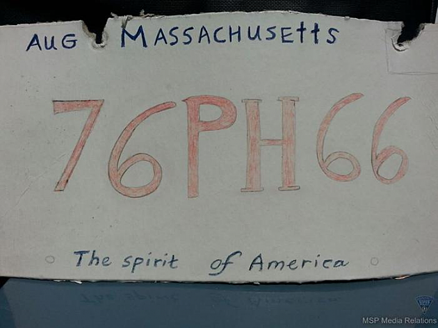 Fake Mass license plate