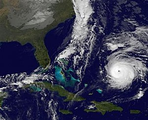 Hurricane Gonzalo, lower right. At 2 a.m. EDT Thursday