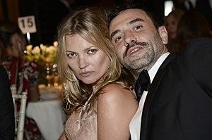 Kate Moss and Ricardo Tisci