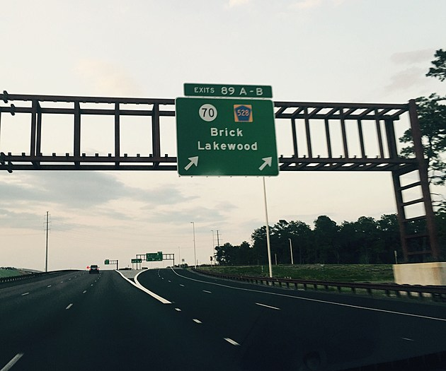 A sign for the newly completed exit 89 on the Garden State Parkway