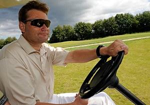 Golf cart driver