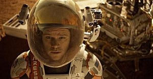 "Matt Damon in a scene from the film, ""The Martian."""