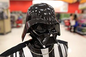 A Darth Vader mask at a Target store