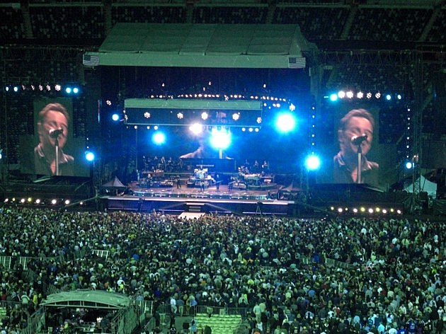 Bruce on the big screen at Met Life Stadium in 2012. (Craig Allen photo).