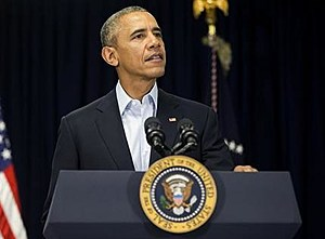 President Barack Obama speaks to reporters about the death of Supreme Court Justice Antonin Scalia at Omni Rancho Las Palmas in Rancho Mirage, Calif.,