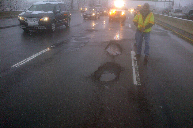 Nj Traffic Delays Blamed On Extra Large Potholes Caused By