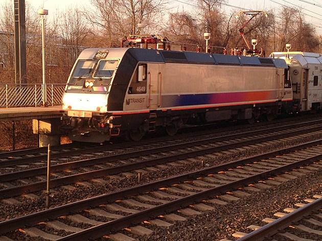 NJ Transit train at the Hamilton Station (Annette Petriccione, Townsquare Media NJ)