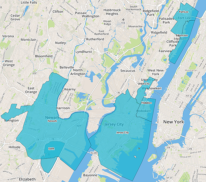 Expected High Demand Areas For Uber During A Possible Nj Transit Strike Courtesy