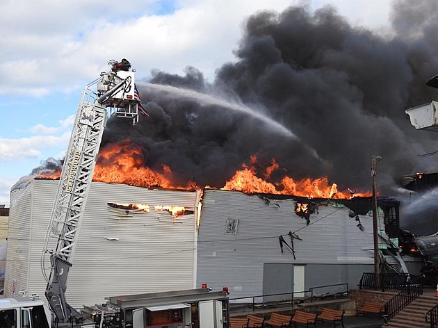 Keyport Fire Watch As Firefighters Struggle To Put Out Blaze