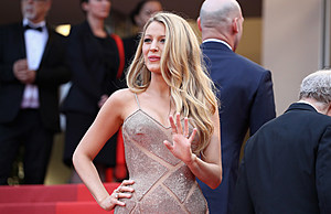 """CANNES, FRANCE - MAY 11:  Actress Blake Lively attends the """"Cafe Society"""" premiere and the Opening Night Gala during the 69th annual Cannes Film Festival at the Palais des Festivals on May 11, 2016 in Cannes, France.  (Photo by Andreas Rentz/Getty Images)"""