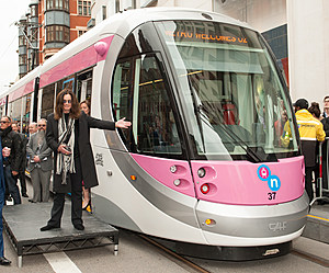 BIRMINGHAM, ENGLAND - MAY 26:  Ozzy Osbourne names a tram Midland Metro tram 'Ozzy Osbourne' which will run on a newly-opened route in the city centre on May 26, 2016 in Birmingham, England.  (Photo by Richard Stonehouse/Getty Images)