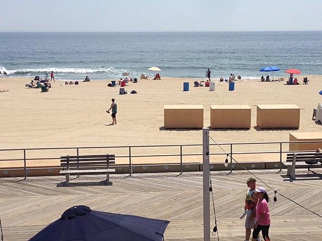 Asbury Park beach and boardwalk