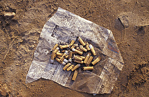 Cigarette butts. (Thinkstock)