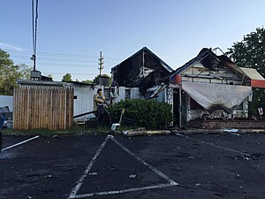 The remains of JB's Diner in Freehold following a fire (John Zalepka)