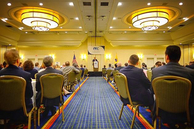 Gov. Chris Christie speaks at the Morris County Chamber of Commerce in Whippany, N.J. on Monday, June 13, 2016. (Governor's Office/Tim Larsen)