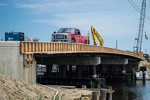 Work on the East Bay Avenue Bridge in Barnegat
