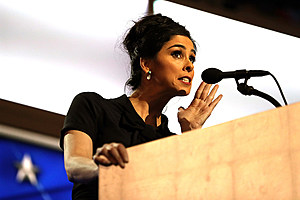 Comedian/actress Sarah Silverman. (Photo by Joe Raedle/Getty Images)