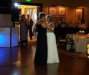 Kim Engler (left) and Lucia Luzzi at their Thursday wedding in Point Pleasant. (Photo provided by Lucia Luzzi)