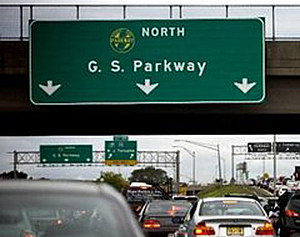 Sign for a Garden State Parkway