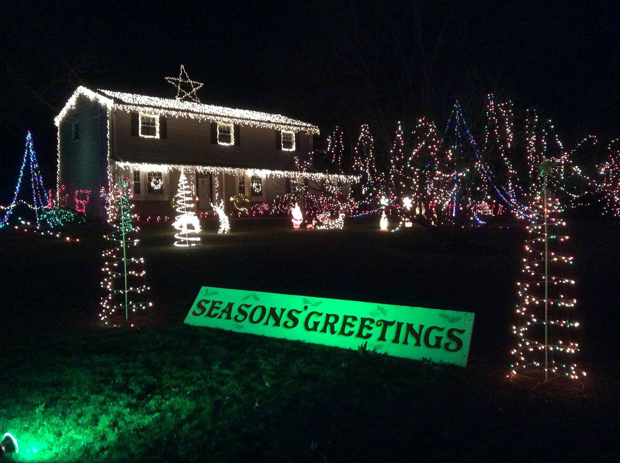 FedEX Pat Lights Up The Night! (Craig Allen Photo).
