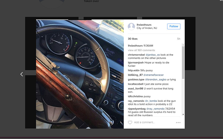 instagram rifle threat puts linden high school on lockdown