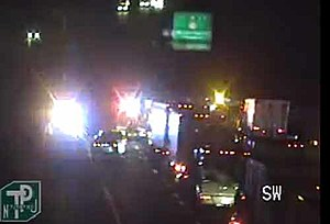 An early morning crash on the NJ Turnpike in Mt. Laurel