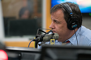 """Gov. Chris Christie joined New Jersey 101.5's Eric Scott Monday. March 27 for """"Ask the Governor"""" (Louis C. Hochman / Townsquare Media)"""