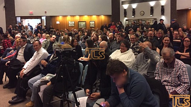 The audience at Thursday night's Jackson Township Council meeting