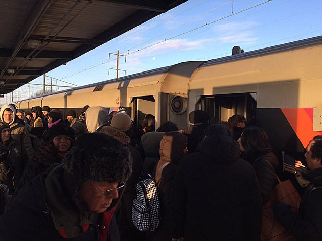 Crowded NJ Transit train