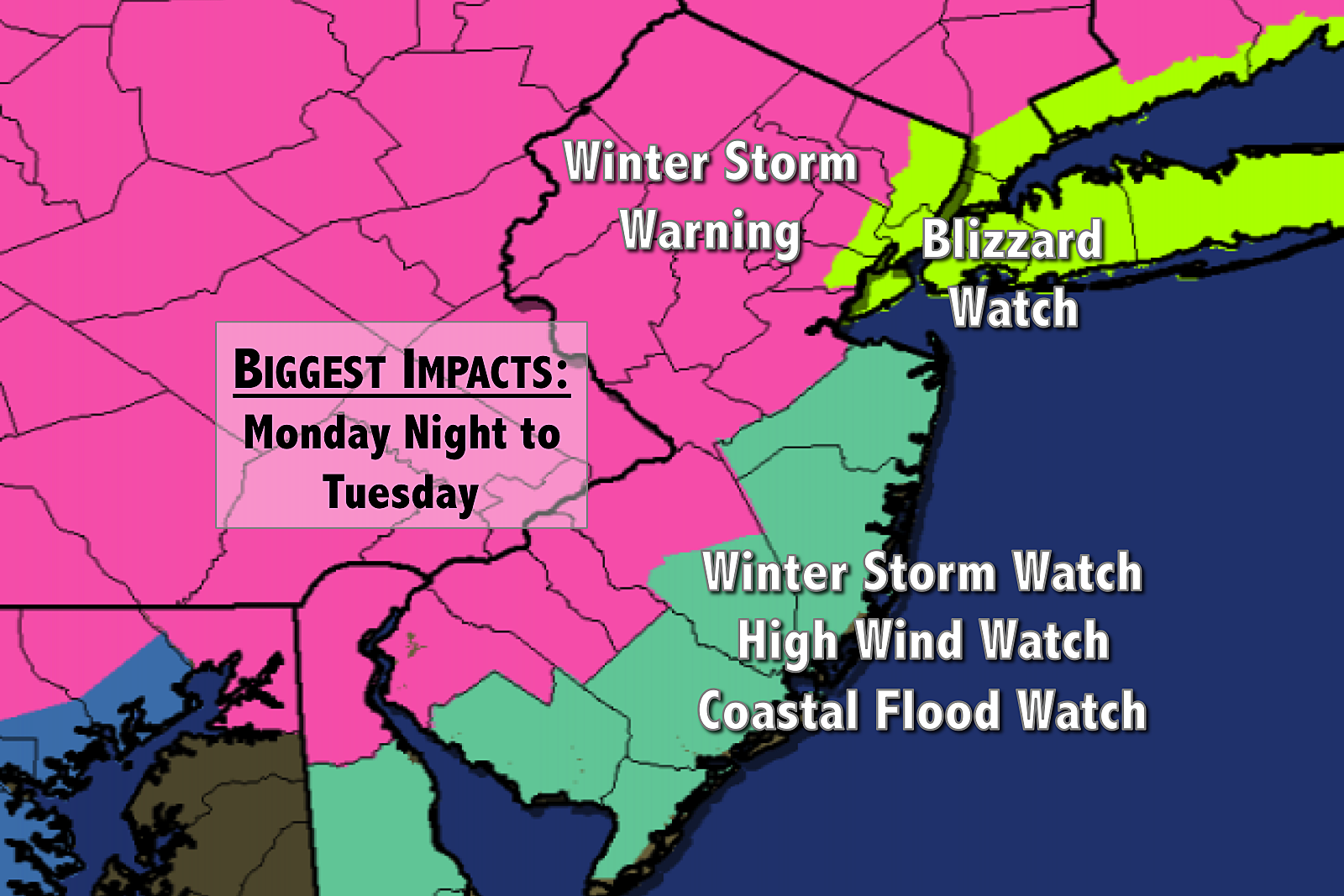 Winter Storm Warning: Winter Storm Warning Issued Ahead Of Tuesday's Snow And Wind