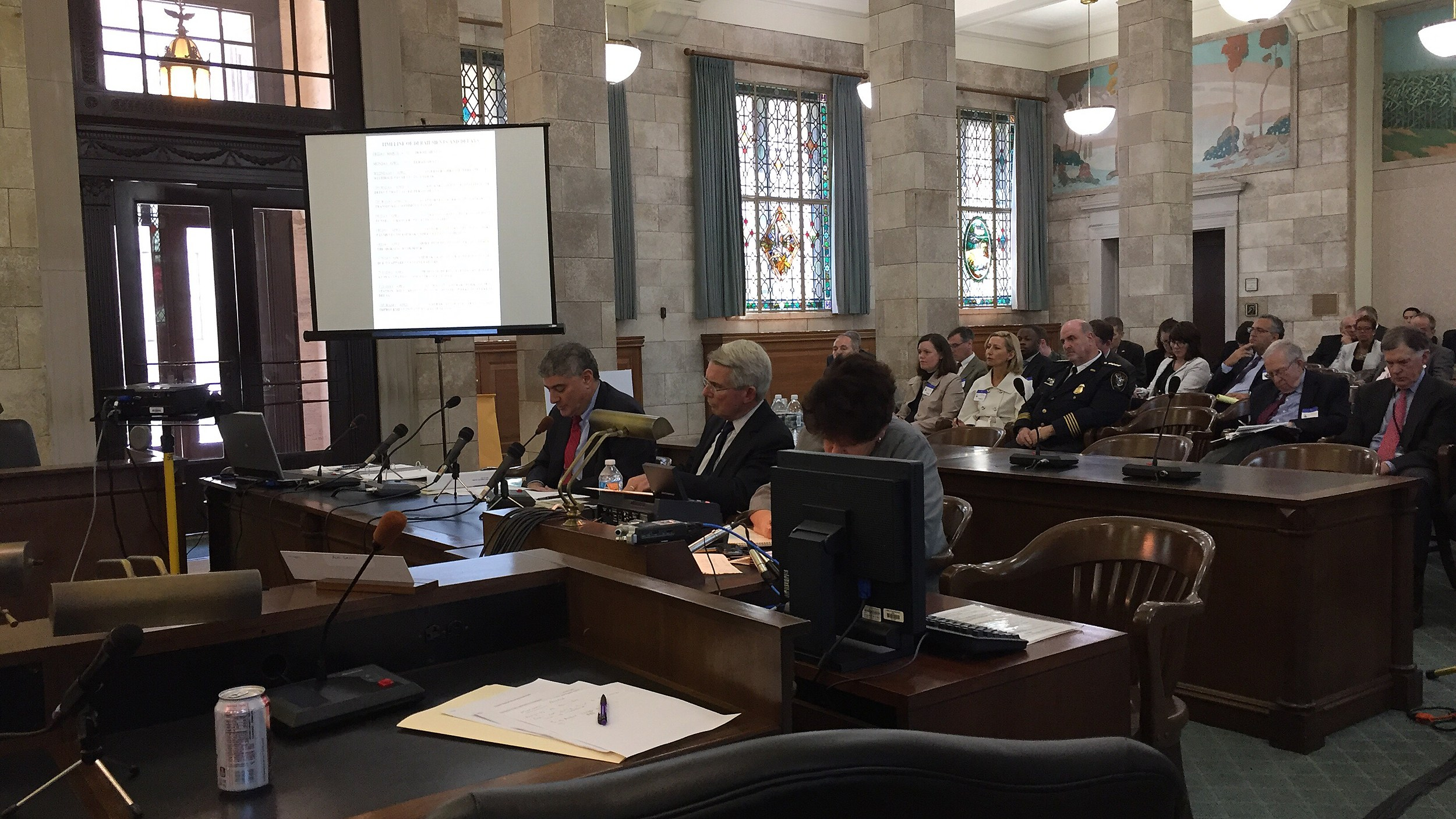 Amtrak officials testify at a joint legislative hearing