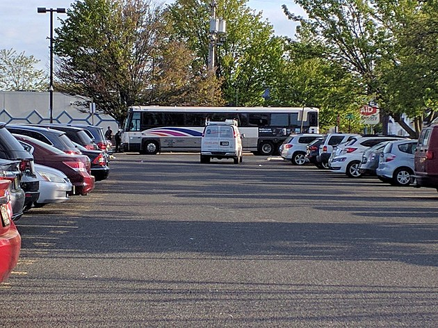 NJ Transit bus at the Long Branch train station