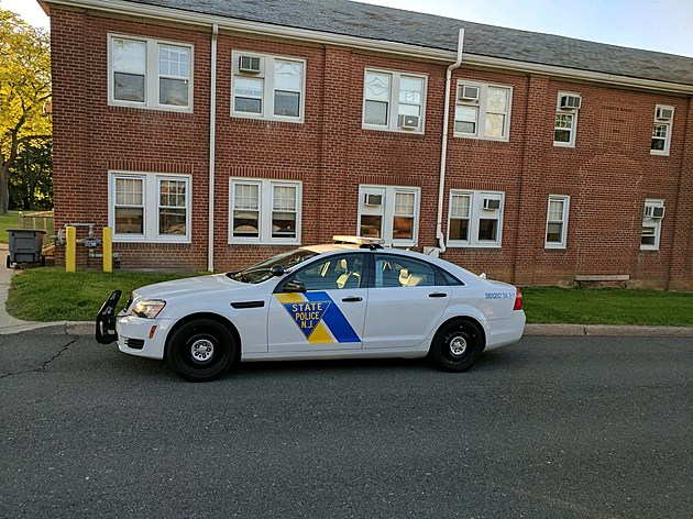 A State Police cruiser at division headquarters